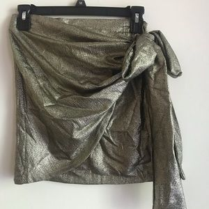 Gold Wrap skirt